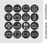 set of simple flat icons with...   Shutterstock .eps vector #241410463
