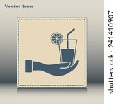 vector glass of juice icons  | Shutterstock .eps vector #241410907
