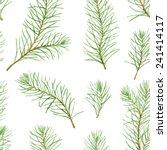 Simple Seamless Pattern. Green...