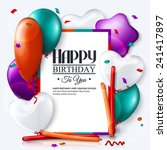 birthday card with colorful... | Shutterstock .eps vector #241417897