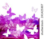 watercolor purple background...