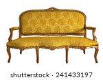 vintage luxury yellow sofa...   Shutterstock . vector #241433197
