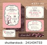 vintage wedding invitation set... | Shutterstock .eps vector #241434733