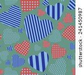 valentine heart seamless... | Shutterstock .eps vector #241450987