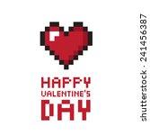pixel valentine's day... | Shutterstock .eps vector #241456387