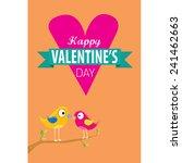 love birds vector illustration. ... | Shutterstock .eps vector #241462663