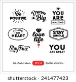 set of vintage retro labels... | Shutterstock .eps vector #241477423