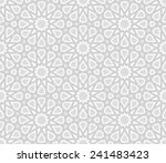 arabesque star pattern  light... | Shutterstock .eps vector #241483423
