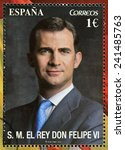 spain   circa 2014  a stamp... | Shutterstock . vector #241485763
