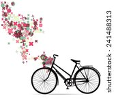 bike with a basket in... | Shutterstock .eps vector #241488313
