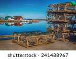 Old Style Lobster Traps On A...