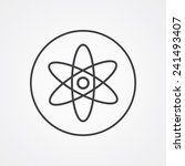 atom outline thin symbol  dark... | Shutterstock .eps vector #241493407