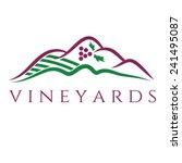 illustration of vineyards.... | Shutterstock .eps vector #241495087