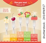 healthy eating pyramid with... | Shutterstock .eps vector #241496917