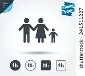 family with one child sign icon.... | Shutterstock .eps vector #241511227