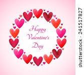 happy valentines day greeting... | Shutterstock . vector #241517827