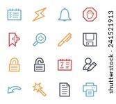 organizer web icons set | Shutterstock .eps vector #241521913