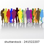 people walking silhouettes | Shutterstock .eps vector #241522207