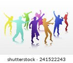 dancing people | Shutterstock .eps vector #241522243