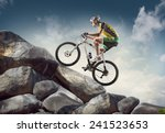 sport background. cyclist... | Shutterstock . vector #241523653