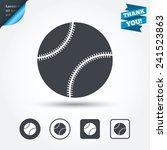 baseball ball sign icon. sport... | Shutterstock .eps vector #241523863