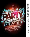 dance party  dj battle design... | Shutterstock .eps vector #241529497