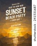 vector summer party poster...   Shutterstock .eps vector #241531687