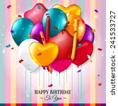 birthday card with colorful... | Shutterstock .eps vector #241533727