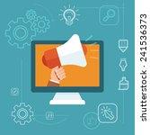 vector digital marketing... | Shutterstock .eps vector #241536373