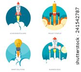rocket ship in a flat style... | Shutterstock .eps vector #241542787