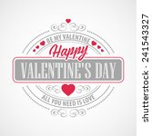 typography valentine's day cards | Shutterstock .eps vector #241543327