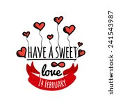 happy valentines day cards with ... | Shutterstock .eps vector #241543987