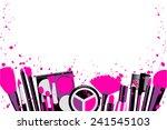 elements cosmetics and makeup... | Shutterstock .eps vector #241545103
