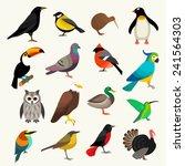 Stock vector birds set 241564303