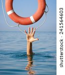 Lifebuoy For Drowning Man In...