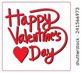 happy valentine's day lettering ... | Shutterstock .eps vector #241566973