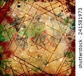 abstract grunge squares... | Shutterstock . vector #241581973