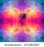 cute hand drawn astronaut on... | Shutterstock .eps vector #241582687