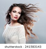 portrait of a beautiful... | Shutterstock . vector #241583143