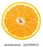 orange slice isolated on white... | Shutterstock . vector #241590913