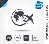 airplane sign icon. travel trip ...