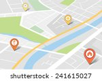 map with pin pointers | Shutterstock .eps vector #241615027