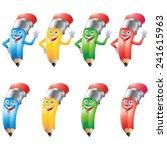 pencil crayon cartoon character ... | Shutterstock .eps vector #241615963