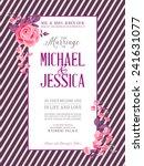 bridal shower invitation card... | Shutterstock .eps vector #241631077
