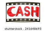 3d illustration of text 'cash'... | Shutterstock . vector #241648693