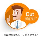 stylish sticker with an umpire...   Shutterstock .eps vector #241649557