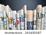 news   folded newspapers in... | Shutterstock . vector #241650187
