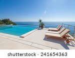 Luxury Swimming Pool And Blue...