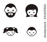 set of four black family member ... | Shutterstock .eps vector #241655503