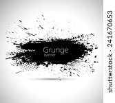 grunge gray banners with splash ... | Shutterstock .eps vector #241670653